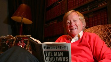 Fairfax Media chairman Ron Walker at home on his 70th birthday.