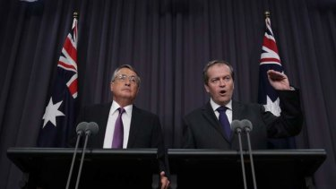 Super changes: Wayne Swan and Bill Shorten.