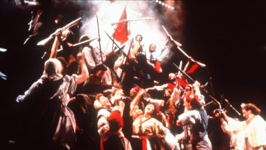 Not yet the scenes of  Les Miserables, but the song of angry men is being heard  again around Europe.