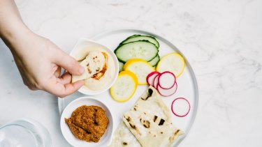 """""""Hummus is made from chickpeas, which are a great source of both fibre and protein to keep us fuller for longer."""""""