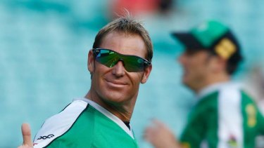 Made a fuss... Shane Warne took to Twitter with his gripe.