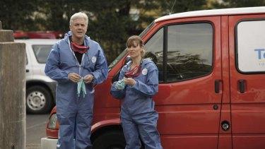 Curious couple … Shaun Micallef and Kat Stewart.