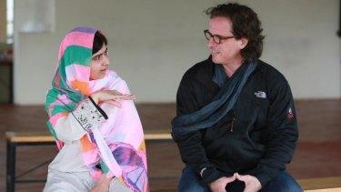 Modern-day heroine Malala Yousafzai chats with director Davis Guggenheim.