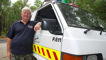 Roleystone volunteer fire brigade deputy chief and fire control officer, Robbie Van Uden. <i>Photo: Rhianna King.</i>