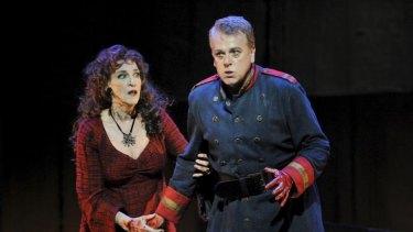 Elizabeth Whitehouse as Lady Macbeth and Peter Coleman-Wright as Macbeth in Opera Australia's ''Macbeth''.        Macbeth1.jpg