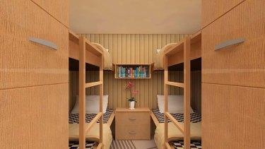 A Vivos bedroom suite.