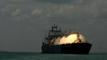 Bound for Japan: LNG from the Northern Territory.