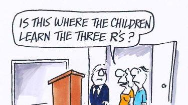 Ron Tandberg news cartoon.