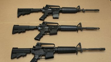 AR-15 assault rifles: Omar Mateen used one, purchased legally, to kill 49 people in Orlando.