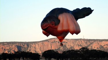 This balloon had locals wondering when it was spotted near Mt Arapiles, in Victoria, last month.