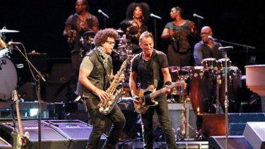 Bruce Springsteen performs at the Brisbane Entertainment Centre, Boondall, on Wednesday night.