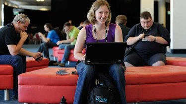 Taking a break at Microsoft TechEd 2012, Gold Cost, Queensland.
