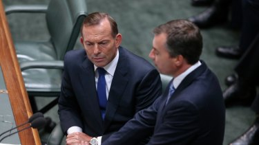 Prime Minister Tony Abbott and Justice Minister Michael Keenan.