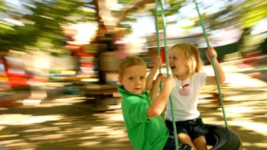 Happy where they are... St Thomas's Child Care Centre in Rozelle is to be relocated to make way for a light rail line.