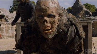 Game of Thrones finale ... Army of the Dead's zombie soldier.
