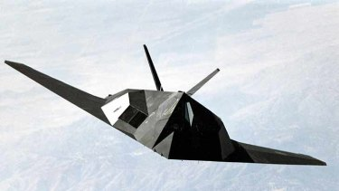An undated photo of the F-117 stealth aircraft.