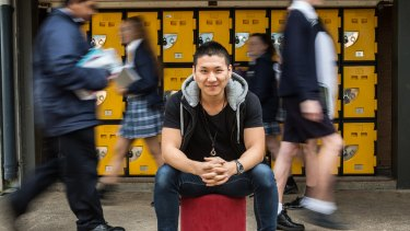 Vincent Shin is Australia's first school lawyer and represents students and their parents at the Grange P-12 College in Hoppers Crossing.