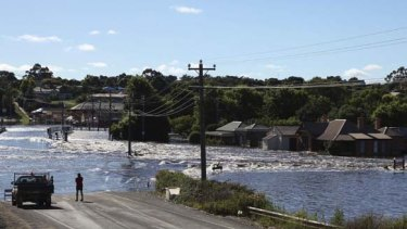 Roads and homes flooded in Skipton.