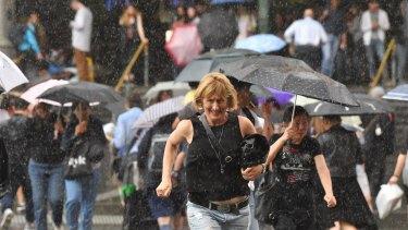 Heavy rain hits the city