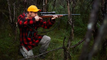 "Taking aim: Steve Garlick believes hunting is part of the ""cultural imperative of man""."