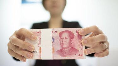 Goldman Sachs says there have been $US550 billion of outflows in the second half of 2015, and that every 1 per cent yuan weakening risks $US100 billion more.