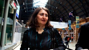 """Changing culture is a huge task"" ... Transport Minister Gladys Berejiklian."