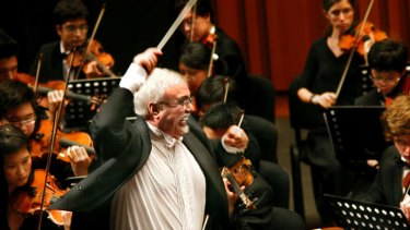 Inspirational: The late Matthew Krel conducting the SBS Youth Orchestra which he founded 25 years ago. Mr Krel died in 2009.