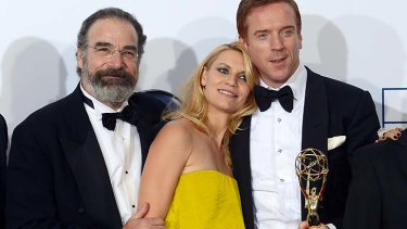 Holla ... Homeland's Mandy Patinkin, Claire Danes and Damian Lewis.