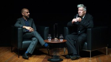 David Lynch speaks to curator Jose Da Silva at GOMA.