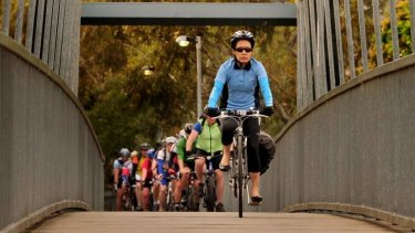 Flow of preferences: cyclists in Melbourne during last week's Ride to Work Day.