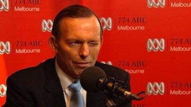 Tony Abbott's notorious wink to Melbourne radio's Jon Faine.