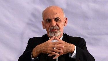 Afghan President-elect Ashraf Ghani speaks during a gathering in Kabul.