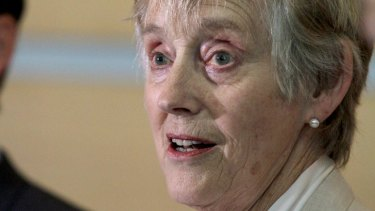 Former head of the MI5, Dame Stella Rimington, talks to the media in Brisbane at the International Council on Archives Congress.