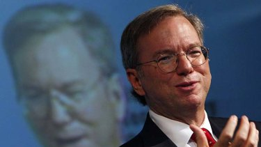 Stepping down ... Google chief executive Eric Schmidt.