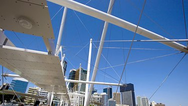 Anna Bligh would like to see another pedestrian bridge like the Kurilpa Bridge, above, within five years.