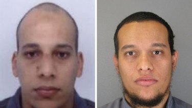 Photos released by French police showing Cherif Kouachi (left) and his brother Said.