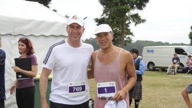 Charity walkers: Mark Beretta and Charlie Teo.