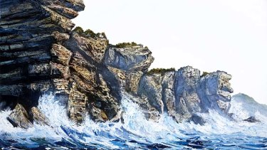 On offer ... a series of large landscapes by Neil Frazer, including <em>Shallows</em>, walked out the fair door.