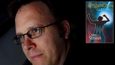 Author Garth Nix and his most recent novel, The Keys to the Kingdom: Lord Sunday.