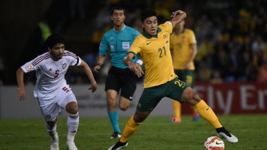 Australia took on the UAE in the 2015 Asian Cup semi-finals.