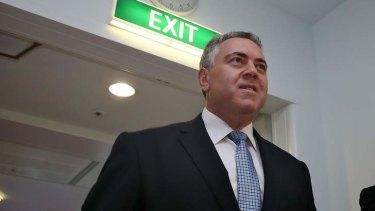 Treasurer Joe Hockey is suing Fairfax Media.