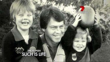 Ben Cousins, left, with father Bryan.