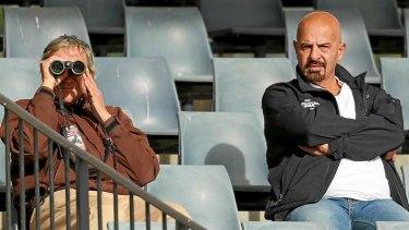 Cashed up: Salford owner Dr Marwan Koukash (right).