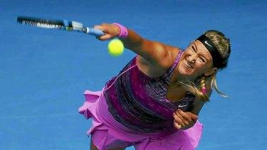 Full scream ahead: Victoria Azarenka is chasing her third Australian Open title.