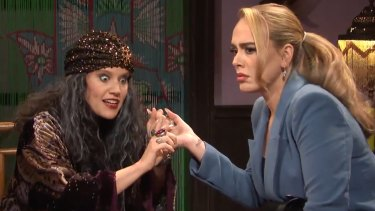 Adele acts in a Saturday Night Live sketch about colouring books.