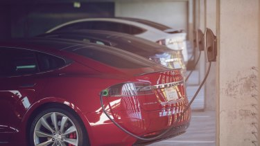 Powering retail: Tesla charge points will soon be offered at Stockland malls.