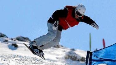 Vocal: Openly gay snowboarder Belle Brockhoff.