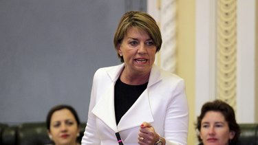 Premier Anna Bligh ... sent the chamber into uproar this afternoon.