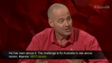 Adam Spencer hit out at the 'morons' calling for Adam Goodes to be deported.