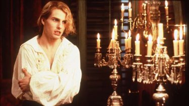 Tom Cruise as Lestat in Interview With A Vampire.
